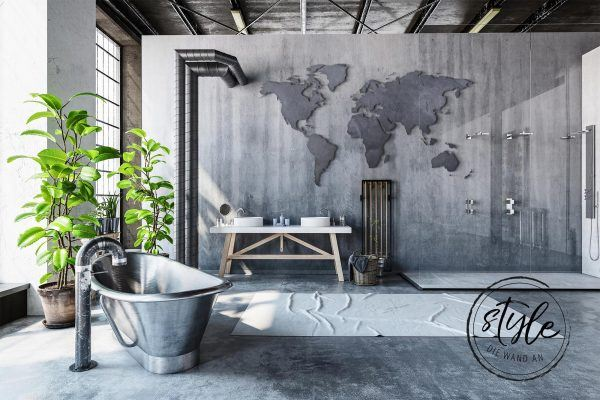 Bathroom in concrete optics