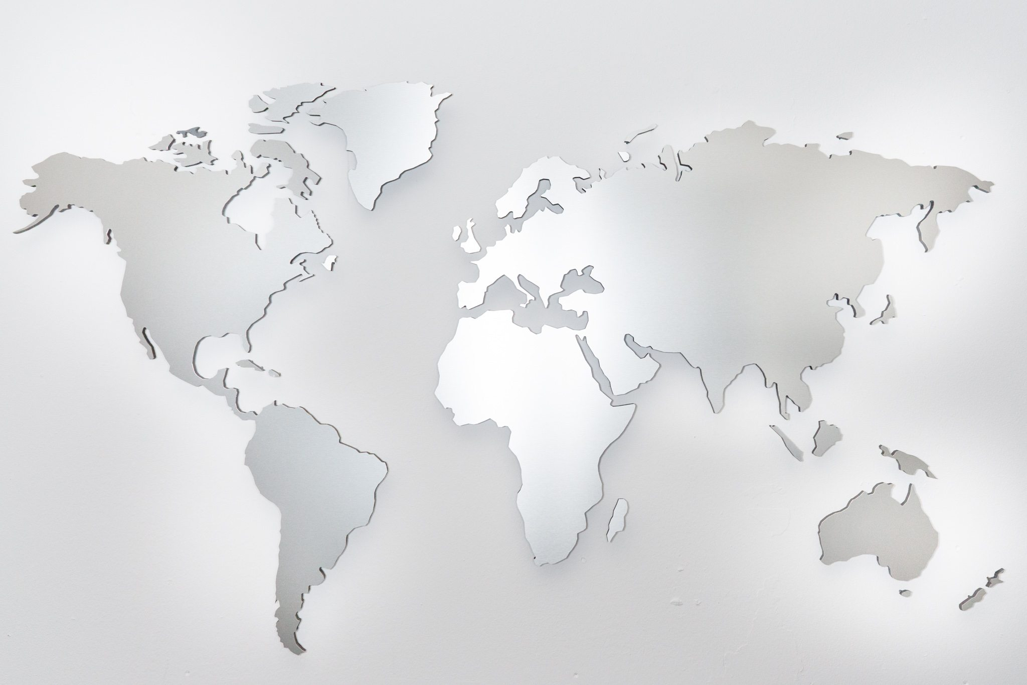 Photos World Map.ᐅ World Map Aluminium World Map Wall Pictures