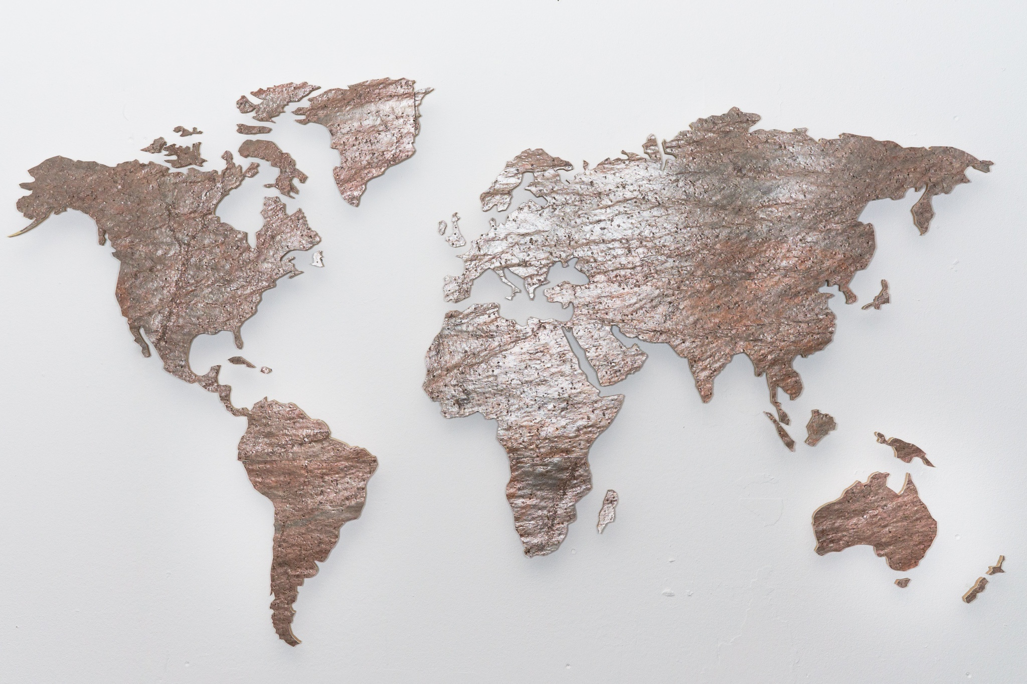 wall pictures world map slate red